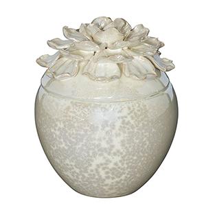 Moonshine Cream Six-Inch Decorative Jar
