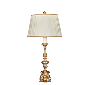 Arielle Grey Couture Gold and Grey One-Light Table Lamp
