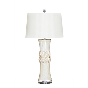 Camille Pearl Cream One-Light Table Lamp