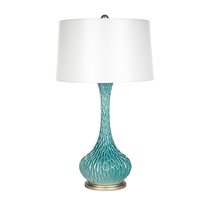 Cascadia Teal  and Gold One-Light Table Lamp