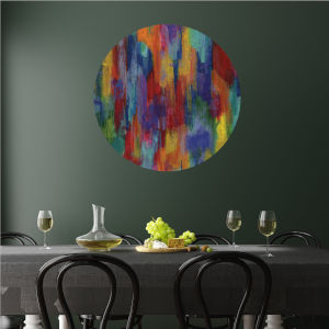 Multicolor Bastille 30 x 30 Inch Circle Wall Decal