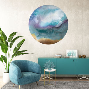 Multicolor Moonstone II 30 x 30 Inch Circle Wall Decal