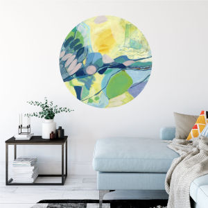 Multicolor Elsewhere 30 x 30 Inch Circle Wall Decal