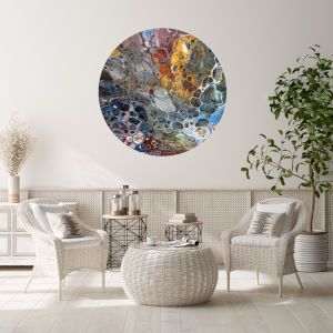 Multicolor Harmony 30 x 30 Inch Circle Wall Decal