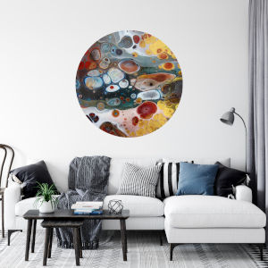 Multicolor Candied Gems 30 x 30 Inch Circle Wall Decal