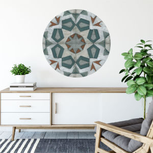 Multicolor Turkish Tiles 30 x 30 Inch Circle Wall Decal
