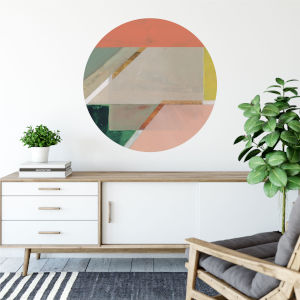 Multicolor Pink Crop Iv 30 x 30 Inch Circle Wall Decal