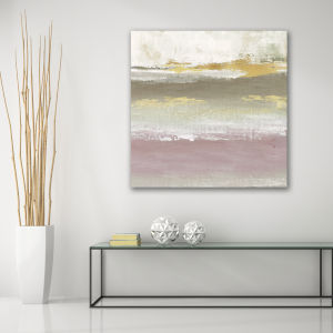 Blush Solace 16 In. x 16 In. Gallery Wrapped Canvas