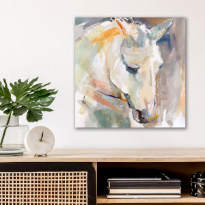 Watercolor Stallion I 16 In. x 16 In. Gallery Wrapped Canvas