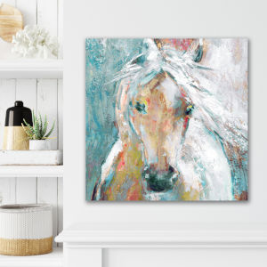 Watercolor Stallion II 16 In. x 16 In. Gallery Wrapped Canvas