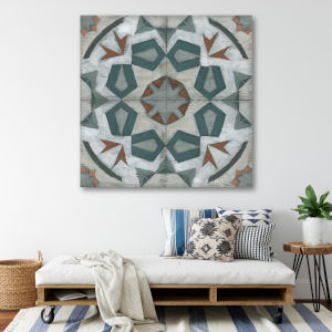 Turkish tiles 16 In. x 16 In. Gallery Wrapped Canvas