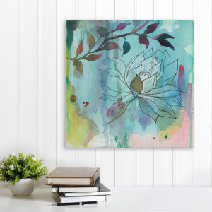Cool Bloom 16 In. x 16 In. Gallery Wrapped Canvas