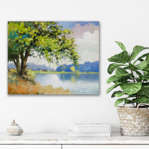 Spring At The Pond II 20 In. x 24 In. Gallery Wrapped Canvas