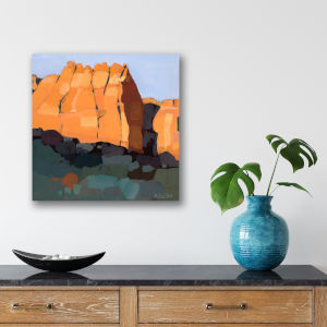 Red Rock 16 In. x 16 In. Gallery Wrapped Canvas