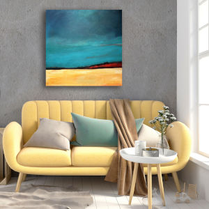 Waiting For The Rain 16 In. x 16 In. Gallery Wrapped Canvas