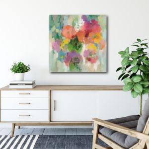Colorful Garden II 30 In. x 30 In. Gallery Wrapped Canvas