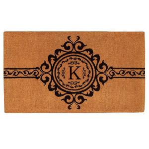 Garbo 3 Ft. x 6 Ft. Letter K Monogram Doormat