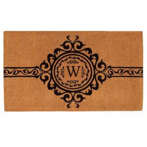 Garbo 3 Ft. x 6 Ft. Letter W Monogram Doormat