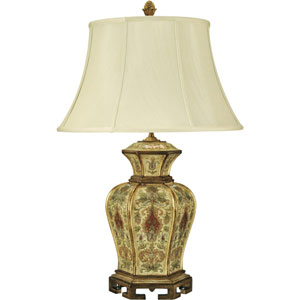 Kashmir Antique Cream One-Light Table Lamp