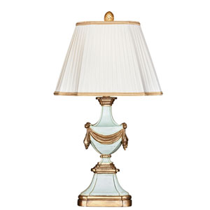 Antoinette Bleu Wood Table Lamp