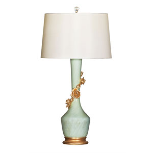 Avril Rose Bleu Ceramic Table Lamp