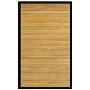 Contemporary Natural Bamboo Rectangular: 6 Ft. x 9 Ft. Rug