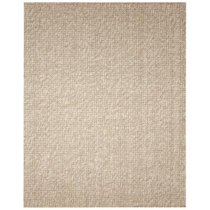 Zatar Ribbed Loop Pile Natural Wool and Jute Rectangular: 5 ft. x 8 ft. Rug
