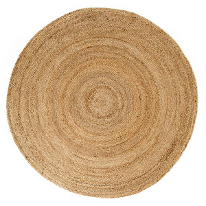 Kerala Natural Jute Round: 4 Ft. Area Rug