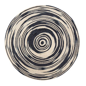 Hurricane Round: 4 Ft. Area Rug