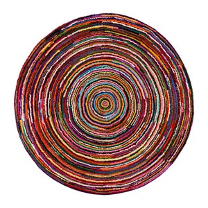 Ripple Multicolor Round: 6 Ft. Area Rug