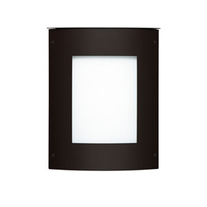 Moto Square Black One-Light ADA Outdoor Sconce With White Glass