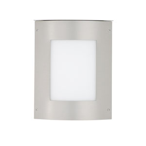 Moto Square Silver One-Light ADA Outdoor Sconce With White Glass