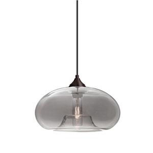 Bana Bronze One-Light Pendant With Smoke Glass