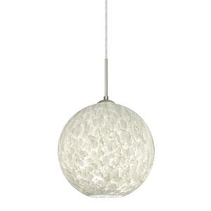 Coco Satin Nickel One-Light Pendant With Carrera Glass