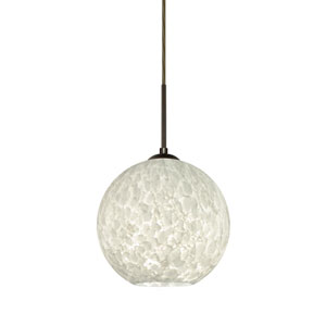 Coco Bronze One-Light LED Pendant With Carrera Glass