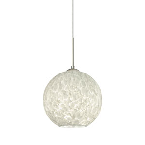 Coco Satin Nickel One-Light Pendant With Carrera Glass