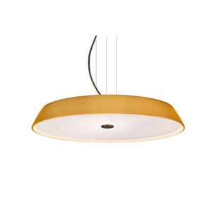 Sophi Bronze One-Light LED Pendant With Amber Matte Glass