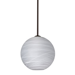 Coco Bronze One-Light LED Pendant With Cocoon Glass