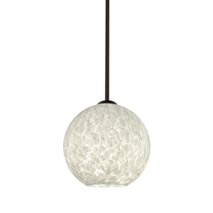 Coco Bronze One-Light Pendant With Carrera Glass