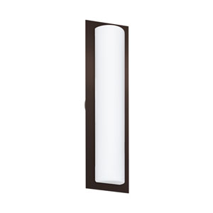 Barclay Bronze Three-Light Wall Sconce With Opal Matte Glass