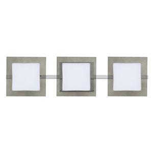 Alex Chrome Three-Light LED ADA Wall Vanity With Opal and Smoke Glass