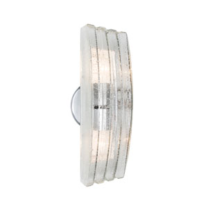 Sail Silver Two-Light ADA Wall Sconce With Bubble Glass