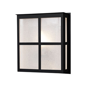 Bree Black One-Light ADA Outdoor Sconce With Glitter Glass