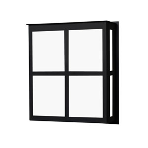 Bree Black One-Light ADA Outdoor Sconce With Satin White Glass