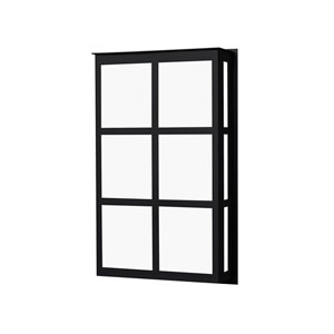 Bree Black Two-Light ADA Outdoor Sconce With Satin White Glass