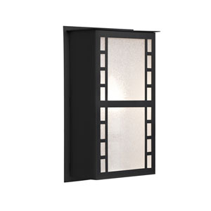 Napoli Black One-Light ADA Outdoor Sconce With Glitter Glass