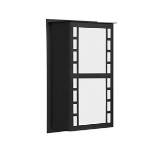Napoli Black One-Light LED ADA Outdoor Sconce