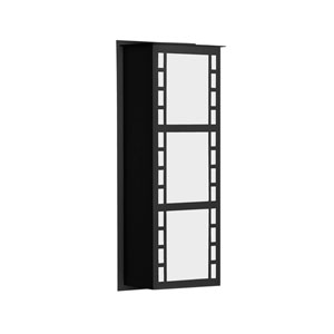 Napoli Black Two-Light ADA Outdoor Sconce