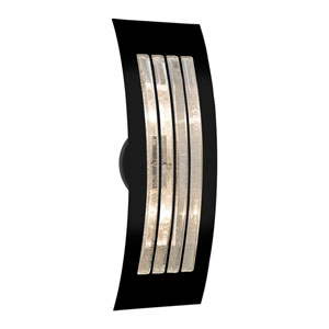 Sail Black Two-Light ADA Wall Sconce With Bubble Glass