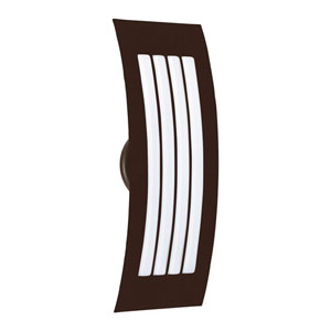 Sail Bronze Two-Light ADA Wall Sconce With Opal Matte Glass